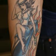 Rock n roll tatuering
