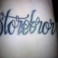 Mina första tatuering.