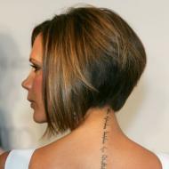 Victoria Beckham tatuering