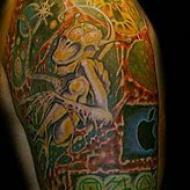 Mac och Apple tatuering
