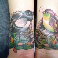 Två rockabilly fåglar