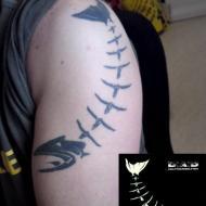 D-A-D Helpyourselfish tattoo. Gjord av Diana på