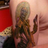 Iron Maiden´s Eddie från plattan Killers gjord av Matthew på Electric vampire tattoo i Hörby.