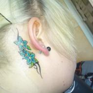 Tattuering Bakom örat, Gjort på pulse tattoo i Motala