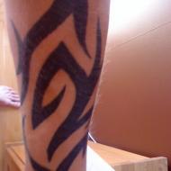 den tatuering har jag ritat ensam