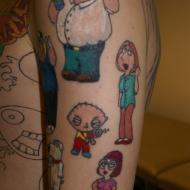 Family guy tatuering