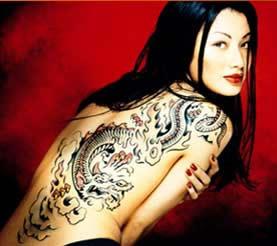Japansk ryggdrake på tjej title=