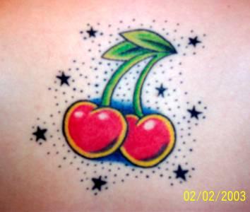 Cherry med stjärnor title=